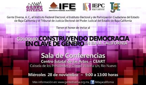 Coloquio Construyendo Democracia en Clave de Género